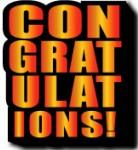 Congratulations logo