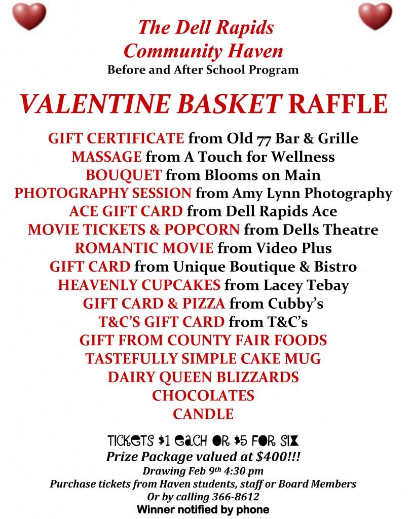Haven Valentine Raffle 2015