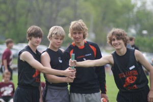 From Left to Right: Nick Boever, Alex Kringen, Eddie Price, and Keegan Miller 8th graders.