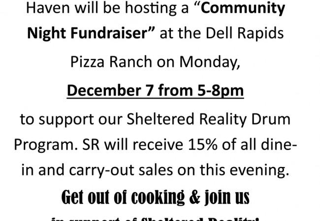 12-7-15 Haven PR Fundraiser