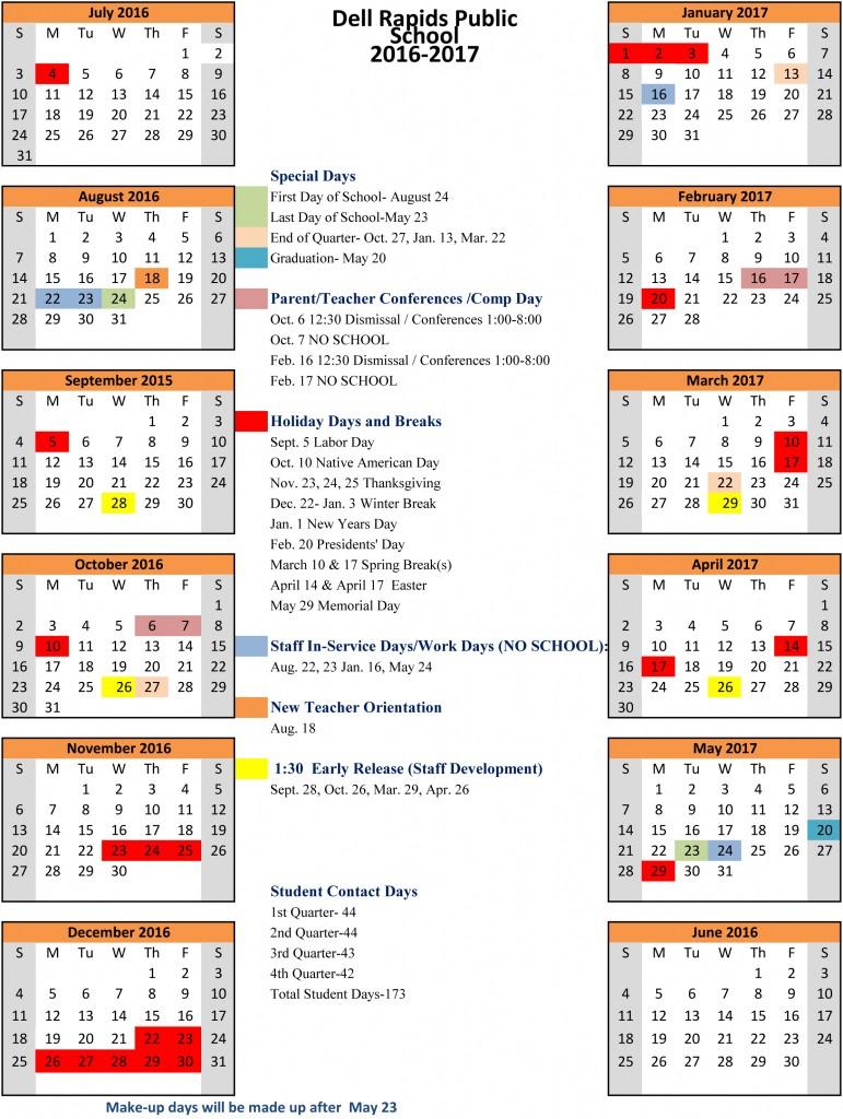 DRHS School Calenar 16-17