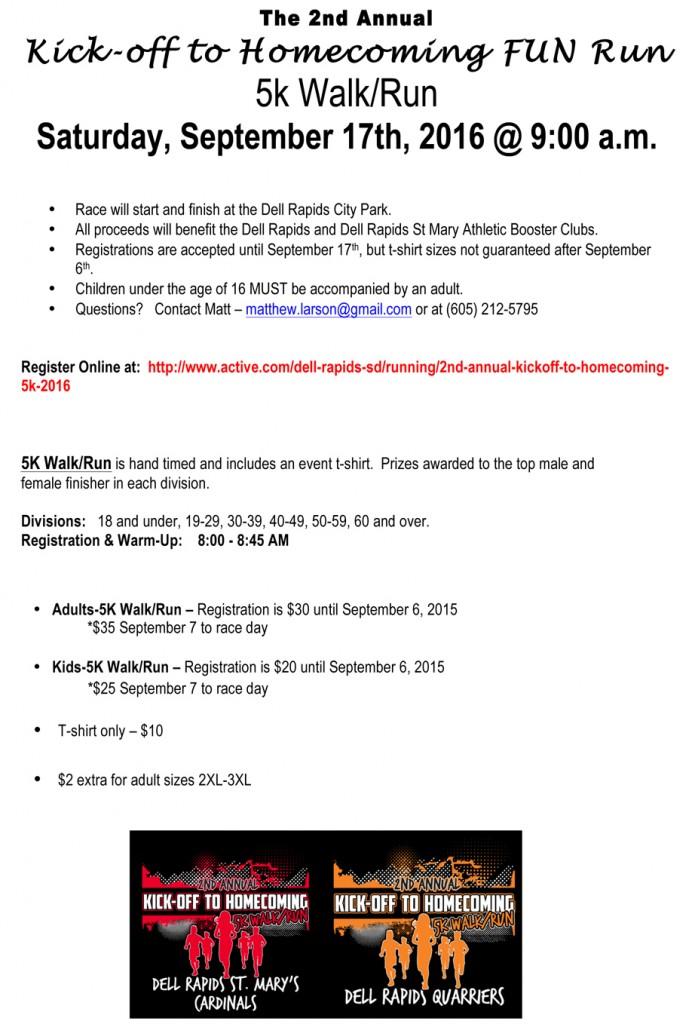Microsoft Word - 2016 Homecoming 5k Info Sheet.docx