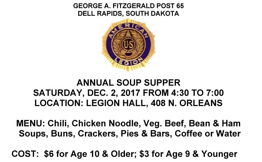 Microsoft Word - American Legion 2017 Soup Supper Notice.doc
