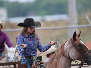 Cheyenne with her horse, Rudy.  Rudy is 21 years old.  Cheyenne along with her brother, Sutton, have trained the horse for rodeo after being given to them by their father. (Photo submitted by Roxie Adams)
