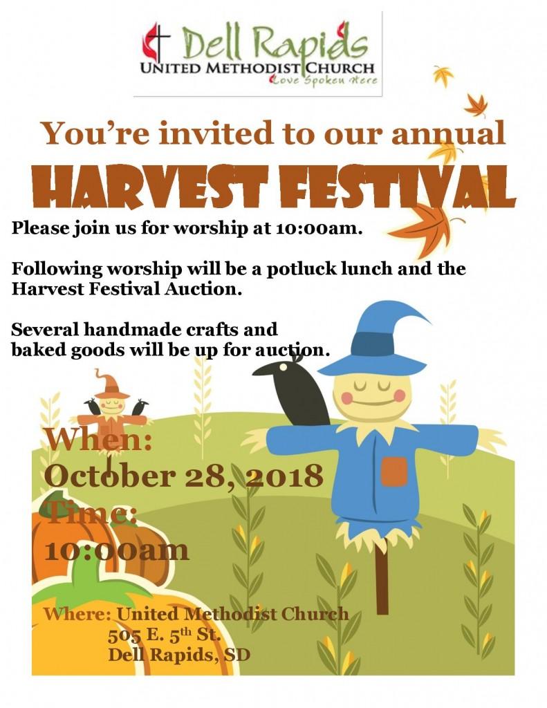 Harvest Festival Flyer 2018